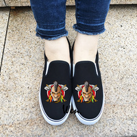 Wen Design American Indian Slip On Adults Canvas Athletic Shoes Black White 2 Choices Sneakers Gifts