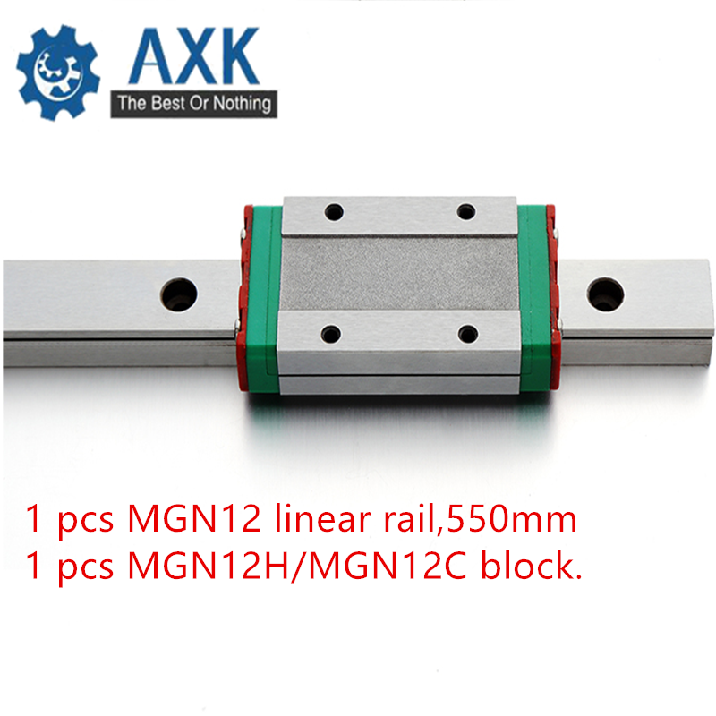 Kossel Mini for 12mm Linear Guide MGN12 550mm linear rail + MGN12H Long linear carriage for CNC X Y Z Axis 3d printer partKossel Mini for 12mm Linear Guide MGN12 550mm linear rail + MGN12H Long linear carriage for CNC X Y Z Axis 3d printer part