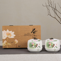 Chinese Style Ceramic Porcelain Tea Jar Hand Painted Tieguanyin Storage Cans Coffee Beans Tanks Canister Tea Caddies Gift Box