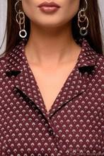 Women Casual Shirt Style Dress Color Turn Down Collar Spring Vestidos