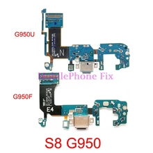 10 PCS USB Charging Port Flex Cable For Samsung Galaxy S8 G950F G950U G950N G9500 USB Charger Dock Connector Flex Cable Parts 5 pcs tablet for asus tf101 ep101 rev 1 2 charging port dock connector usb charger charging port flex cable