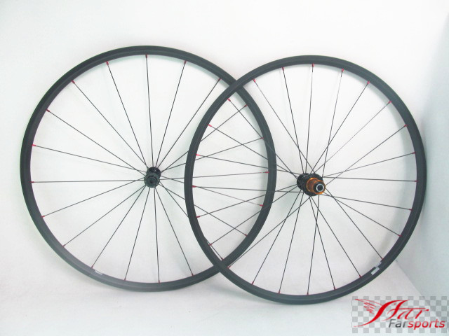 Farsports FSC20-TM-23 ED HUB Only 970g/set superlight carbon wheels tubular 20mm deep, 23mm wide tubular ultralight bike wheels marumi mc close up 1 55mm