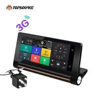 6 86 Inch 3G Car DVR GPS Navigation Android 5 0 Dash Cam Auto Recorder Dual