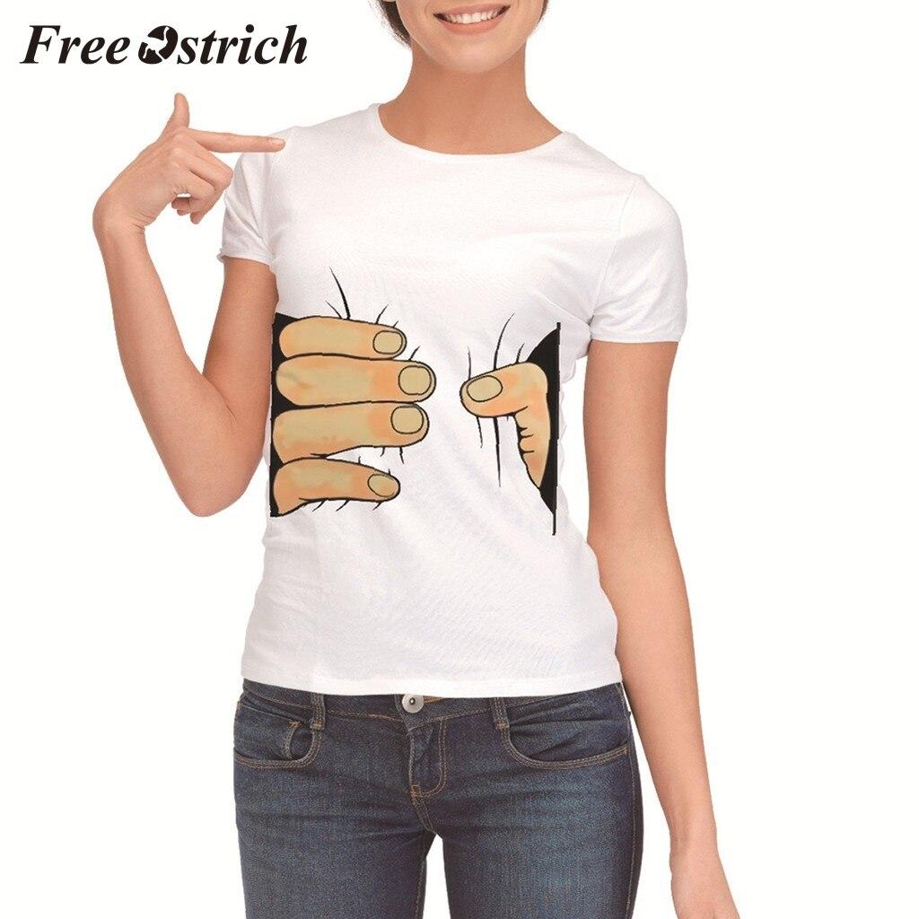 YFancy Women Girl Summer Fashion Popular Cute Cat Printing Casual Crewneck Casual Loose Tops Tee Shirts Blouse