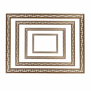 Image 1 - 装飾ライン花ウッド刻まれたデカールコーナーアップリケフレーム壁家具木彫り木製置物工芸品ホーム100センチ