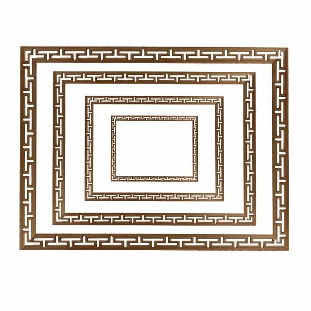 装飾ライン花ウッド刻まれたデカールコーナーアップリケフレーム壁家具木彫り木製置物工芸品ホーム100センチ
