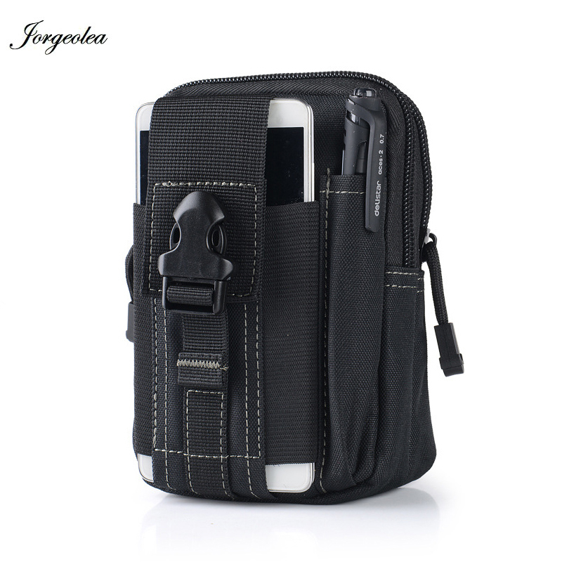 Jorgeolea Men Military Running Waist Bags For Phone Nylon Outdoor Waterproof Sports Wasit Bag 5.5/6 inch Riding Mini Pack N0127Jorgeolea Men Military Running Waist Bags For Phone Nylon Outdoor Waterproof Sports Wasit Bag 5.5/6 inch Riding Mini Pack N0127