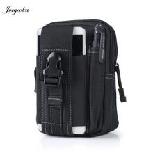 Jorgeolea Men Military Running Waist Bags For Phone Nylon Outdoor Waterproof Sports Wasit Bag 5.5/6 inch Riding Mini Pack N0127