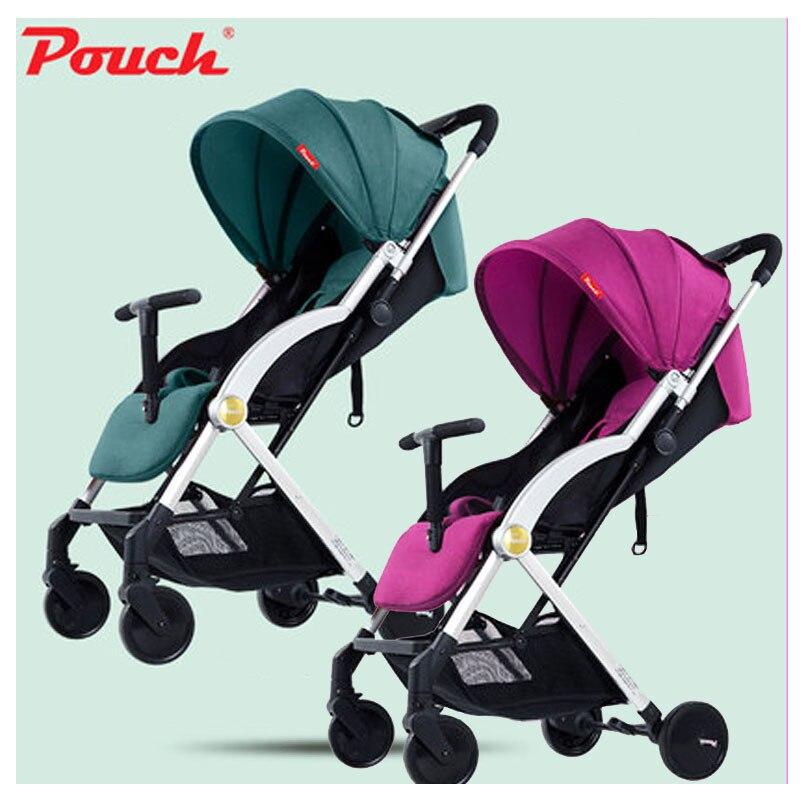 Pochette Ultra légère bébé poussette peut s'asseoir Lie Portable quatre roues parapluie voiture pliante bébé chariot landau bébé chariot