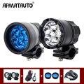 2X светодиодная вспомогательная фара точечная Светодиодная рабочая лампа для вождения противотуманных фар 12В Автомобильный мотоцикл + жгут...