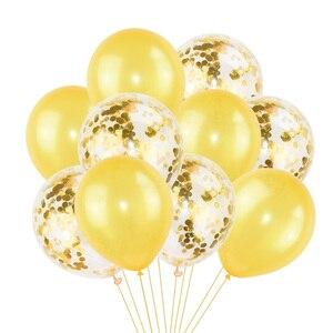 Image 3 - 10Pcs מעורב קונפטי בלונים שמח מסיבת יום הולדת הליום בלון קישוטי חתונה פסטיבל לטקס בלון ספקי צד