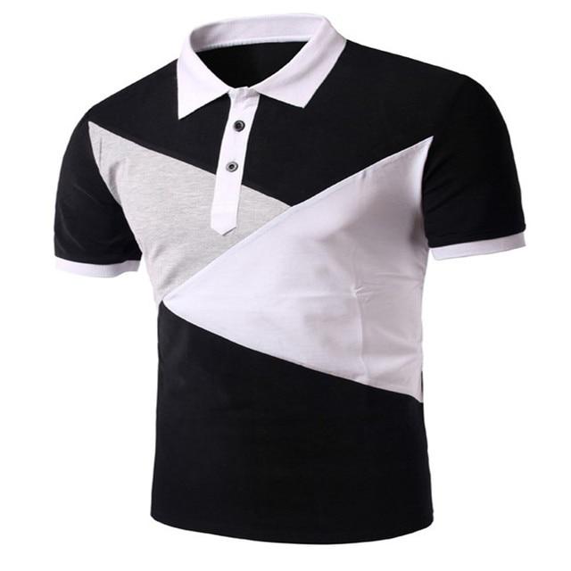 1300319c67 2016 Nuevo Estilo de Diseño Para Hombre Polos Camisa de Remiendo de La  Manera de los