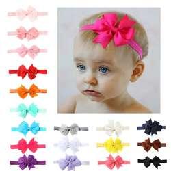 Новая мода мини сплошной цвет V-образная лента ласточкин хвост детский бант для волос аксессуары для волос Мальчики и украшения для волос