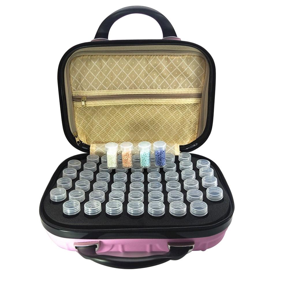 Diamant peinture 132 compartiments voyage bouteille transport sac de rangement organisateur Collection antichoc étui Portable huile essentielle