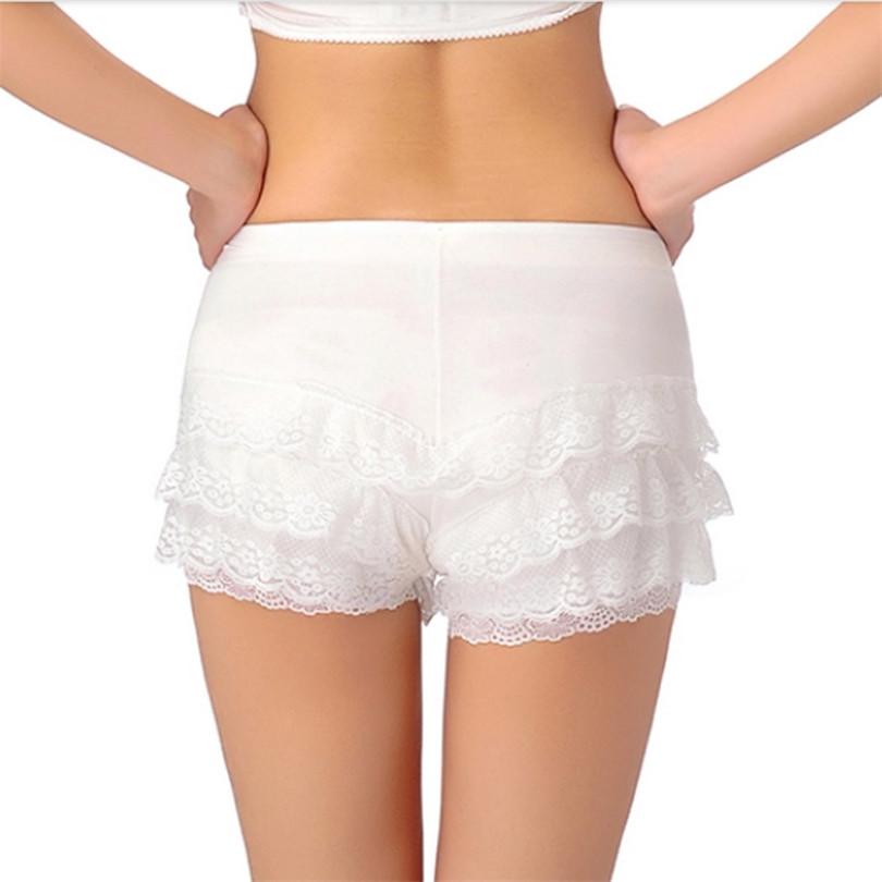 YGYEEG Hot Sale 2020 New Arrive Women Sexy Hot Shorts Summer Ladies Casual Lace Shorts Low Waist Short White Solid Lace Shorts