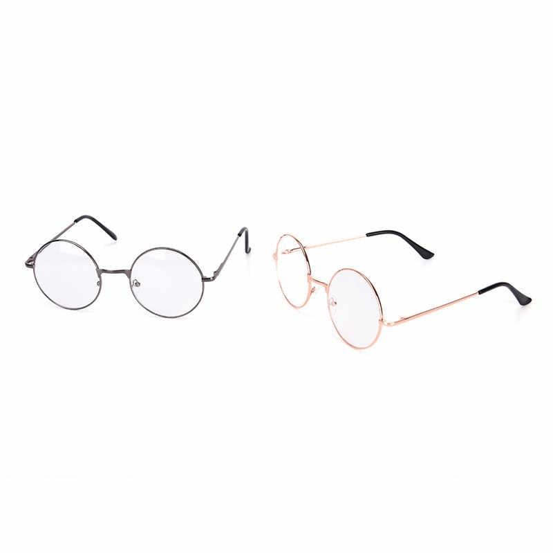 Горячие Новые Для мужчин/wo Для мужчин Круглые Солнцезащитные очки металлическая оправа ретро очки с прозрачными защитными стеклами очки мужские женские оптические круглые плотная зеркало