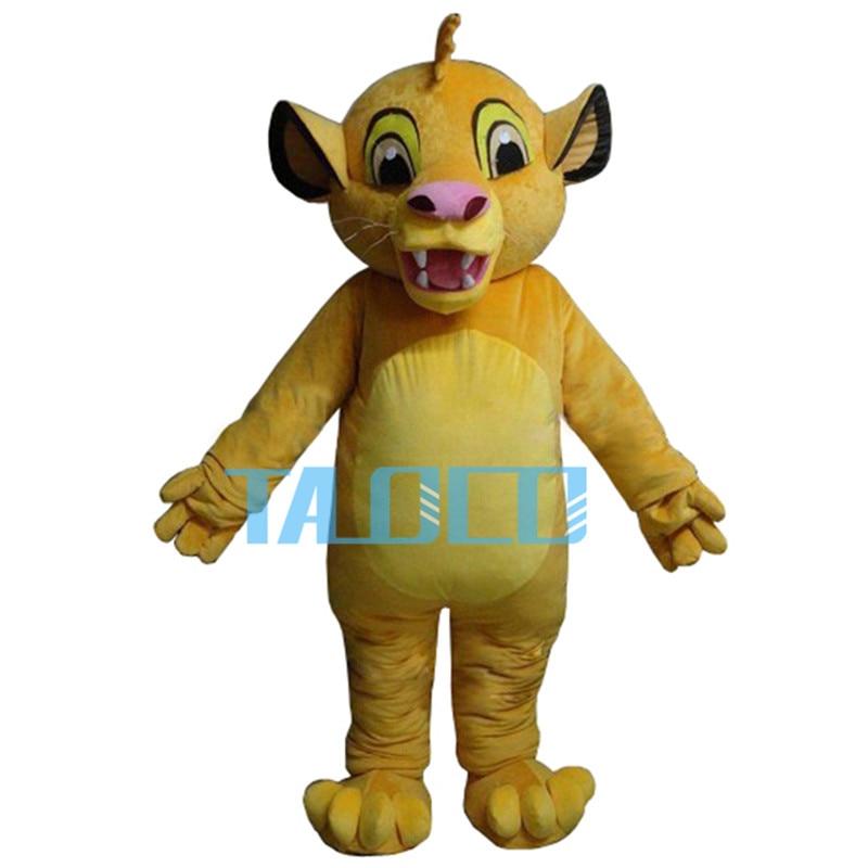 Masoct Lion King Simba Mascot Costume Custom Fancy Costume Anime Cosplay Kits Mascotte Theme