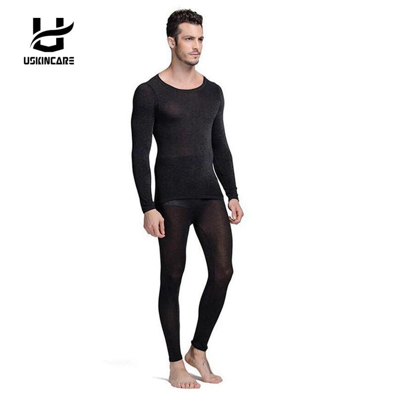 Sans couture Hiver 37 Degrés Hommes Minceur Chaud Sous-Vêtements Thermiques Ultra-Mince Chaleur Caleçon Long Super Élastique Mince Corps Costume Pour Homme
