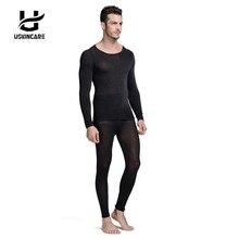 Бесшовные зима 37 градусов Для мужчин похудения теплый Термальность Нижнее Бельё для девочек ультратонких тепла Кальсоны для женщин супер эластичный тонкий облегающий костюм для Homme