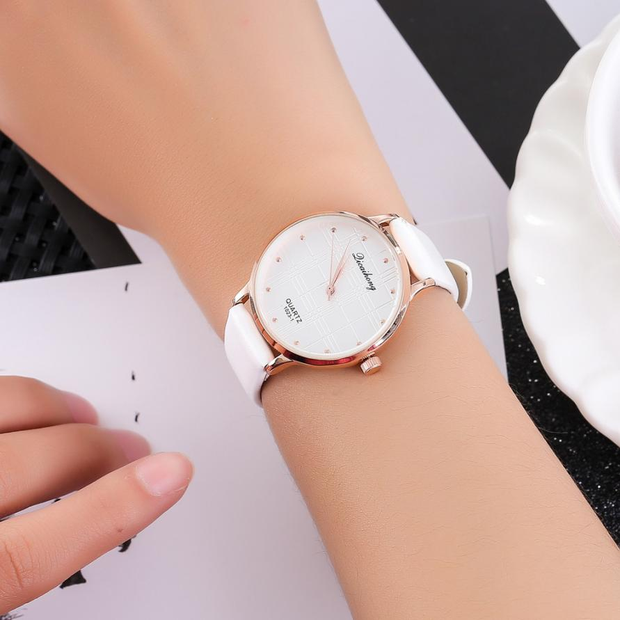 Temperament Fashion Simple Women's Quartz Watch Analog Simple Business Ladies WristWatch Beautiful Souvenir Hand Clock 2018 #D