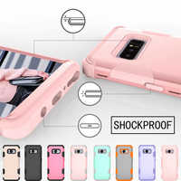 Di lusso Anti-drop Copertura Per Samsung Note8 9 In Silicone E PC 3 in 1 Heavy Duty Anti Shock Armatura per Il caso di S10 S9 S8 Più S10E Coque