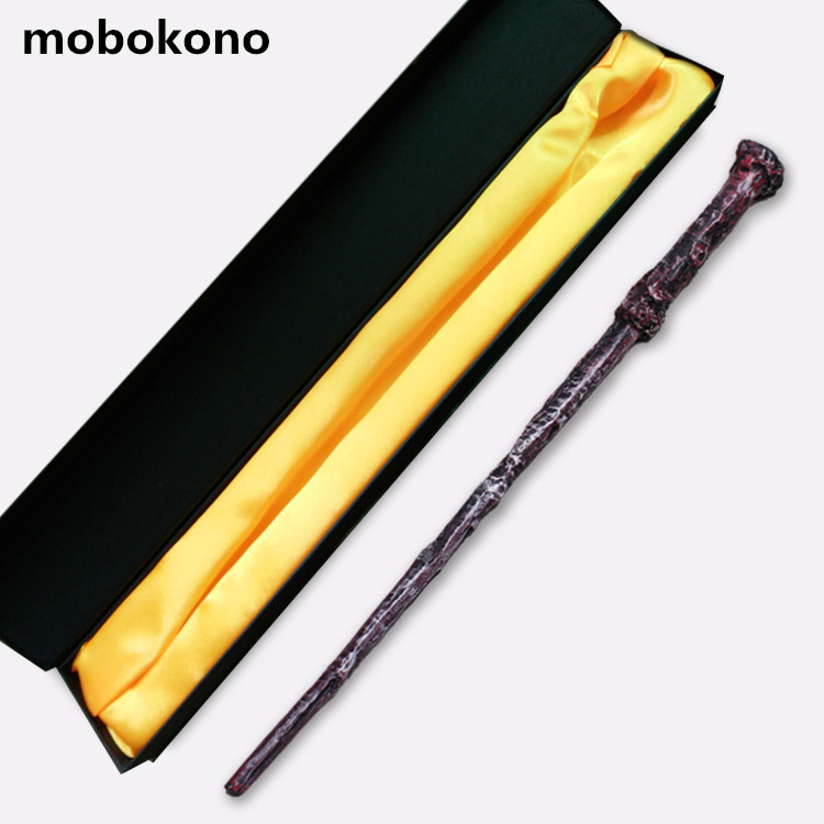mobokono New Top Quality Harry Potter Magic Wand With Gift Box Cosplay Game Prop Collection Series Toy Stick high quality best price harry potter magic wand kids cosplay stage magic tricks sticks children toys harry potter magical wand