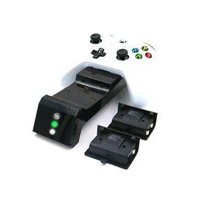 Image 2 - Z ekranem stanu ładowania gamepad stacja ładująca baza plus 2 zestawy akumulatorów do konsoli Xbox One/One S/One X