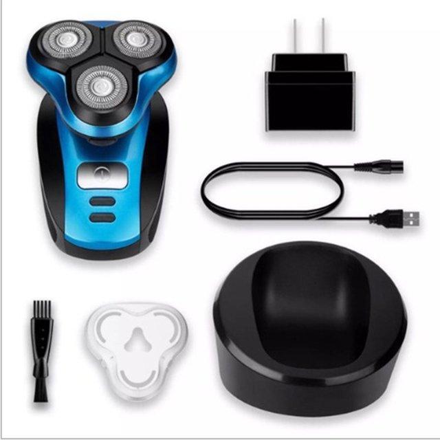 Afeitadoras eléctricas para hombres USB cargador de coche recortadora para el cuidado de la cara máquina de afeitar 4 piezas