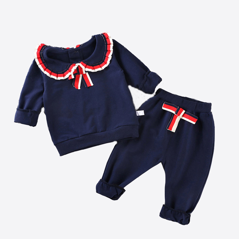 Cute Child Woman Clothes Set 1 2 three four Years Put on Lengthy Sleeve Swimsuit Children Woman Folding lace 1-4Y Clothes Units, Low-cost Clothes Units, Cute Child Woman Clothes...