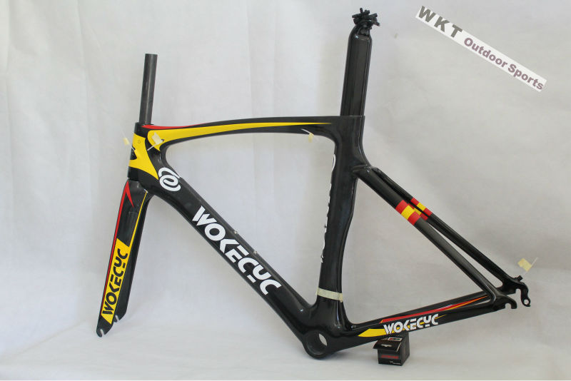 2018 Full Carbon Road Bicycle Bike T800 Super Light Road Carbon Bicycle Road Frame Frameset size 49 52 54 56 58cm thurst carbon road bike frame cycling bicycle frameset with fork seatpost headset di2 mechanical carbon frame 49 52 54 56 58cm