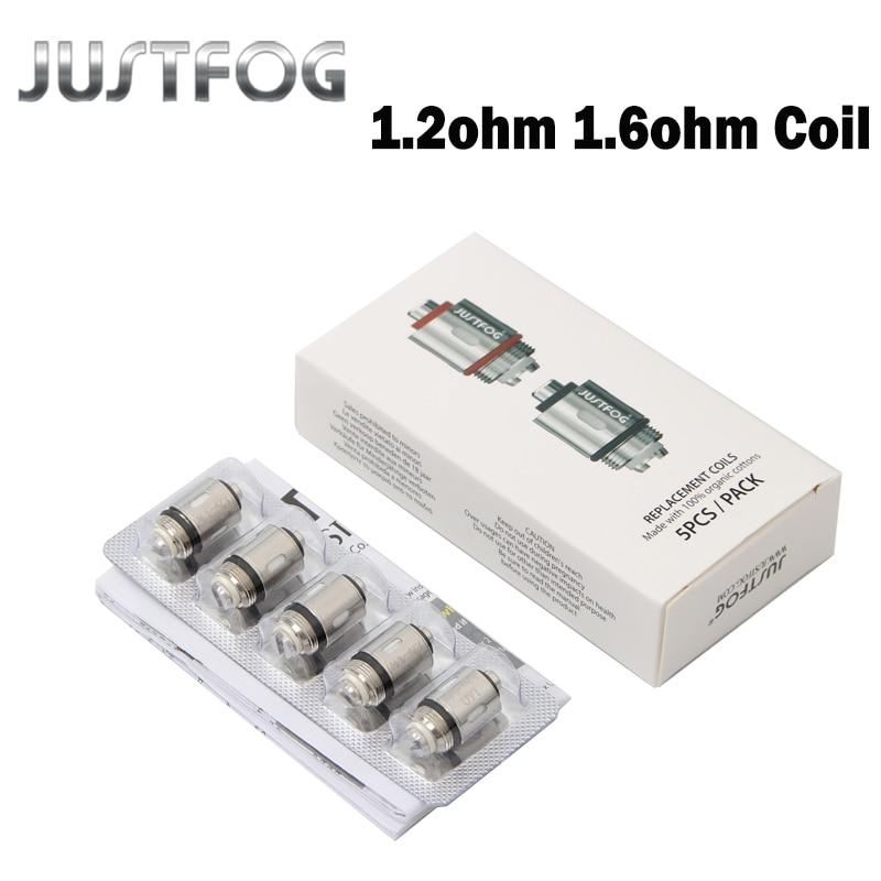 10pcs/20pcs lot JUSTFOG Q16 Coil 1.2ohm 1.6ohm C14 Coil Head Core For Q16 Q14 P16A P14A Clearomizer C14 Sub ohm Tank Under-cabinet lighting