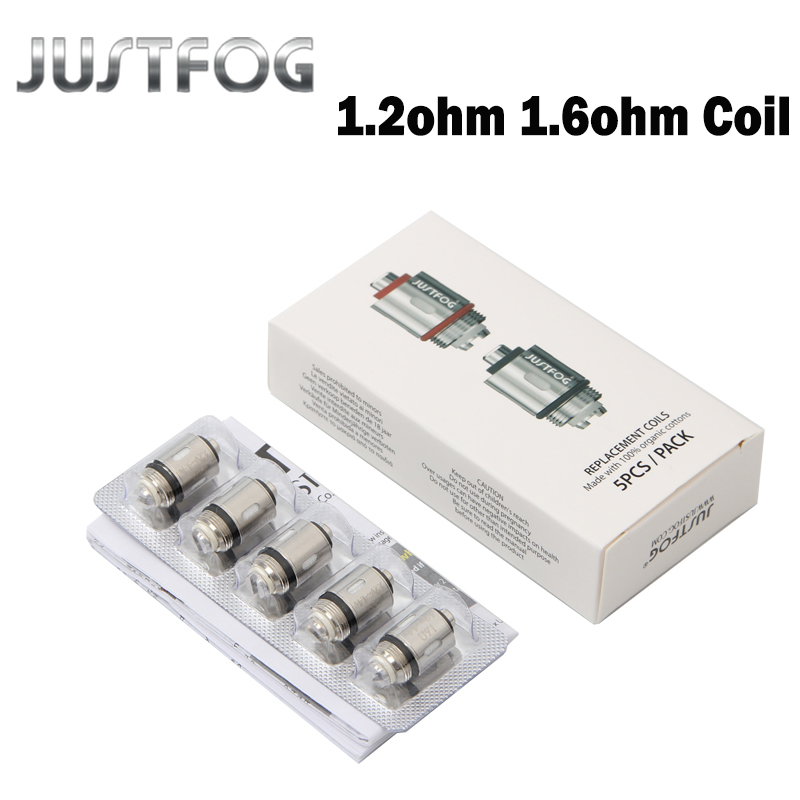 10pcs/20pcs Lot JUSTFOG Q16 Coil 1.2ohm 1.6ohm C14 Coil Head Core For Q16 Q14 P16A P14A Clearomizer C14 Sub Ohm Tank