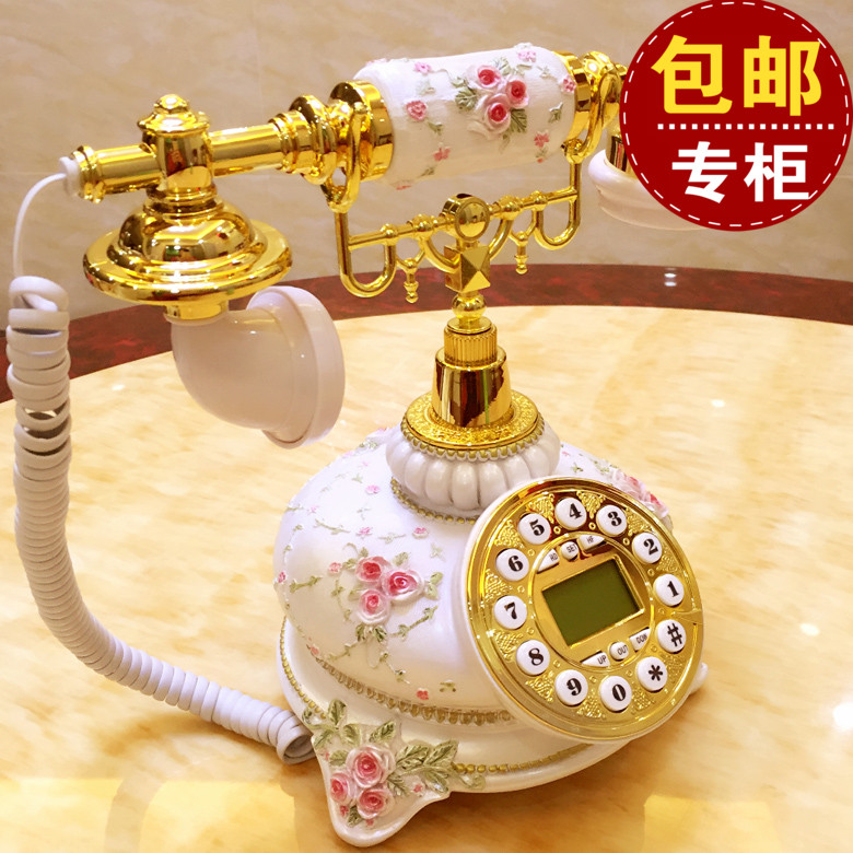 The wireless telephone card European antique telephone fashion retro pastoral antique telephone telephone corded phone ringing