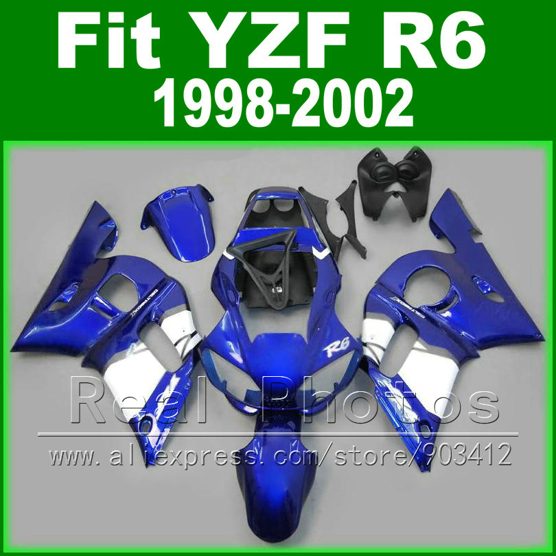 Brand New body kits for <font><b>YAMAHA</b></font> <font><b>R6</b></font> fairing 1998 1999 <font><b>2000</b></font> 2001 2002 roylblue and matte black Fit YZF <font><b>R6</b></font> fairings 1998-2002 image