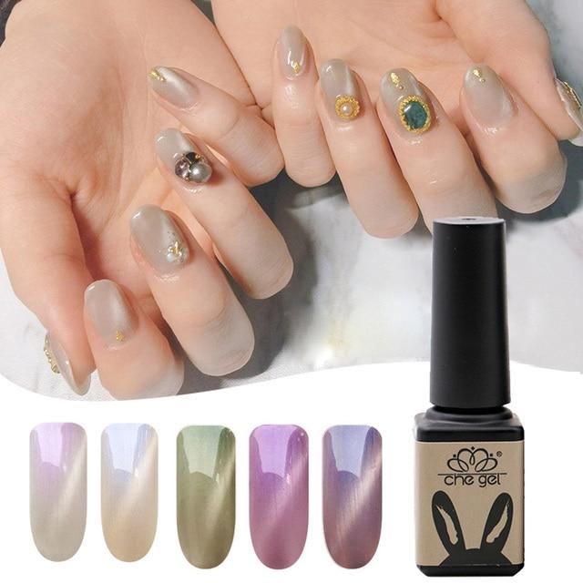 CHE GEL New Glitter Shining UV Gel Nail Polish Long Lasting Soak Off ...