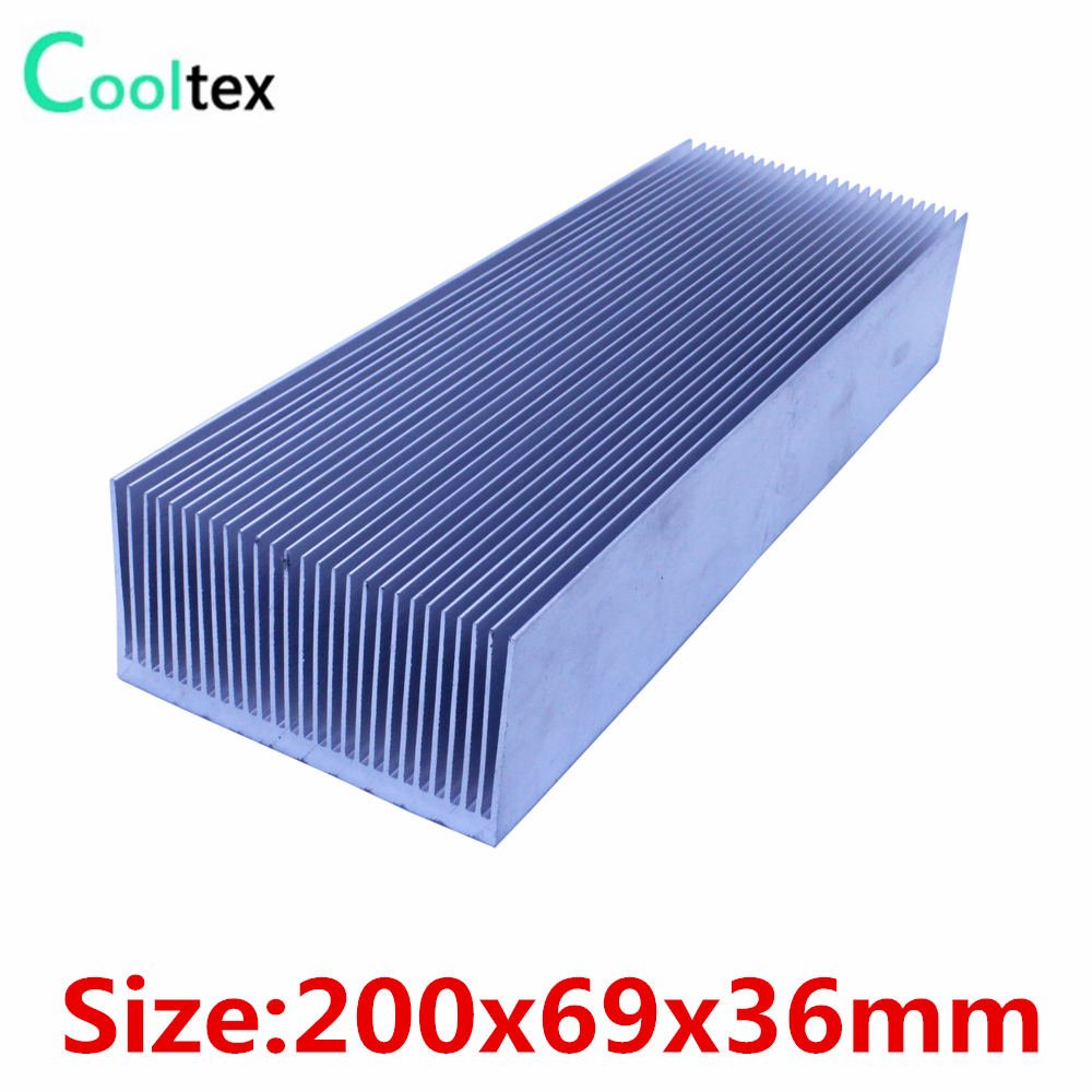 (High power) 200x69x36mm Aluminum heatsink radiator Heat Sink cooler for chip LED Electronic cooling 20pcs lot aluminum heatsink 14 14 6mm electronic chip radiator cooler w thermal double sided adhesive tape for ic 3d printer