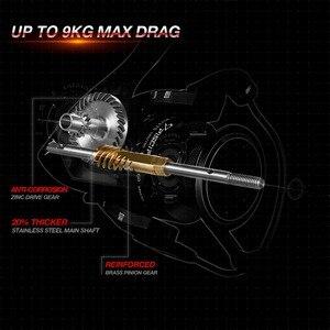 Image 2 - Piscifun Flame kołowrotek 5.2:1 przełożenie 10 łożysk do 9KG Max Drag Light Ultra gładka 2000 3000 4000 5000 kołowrotek
