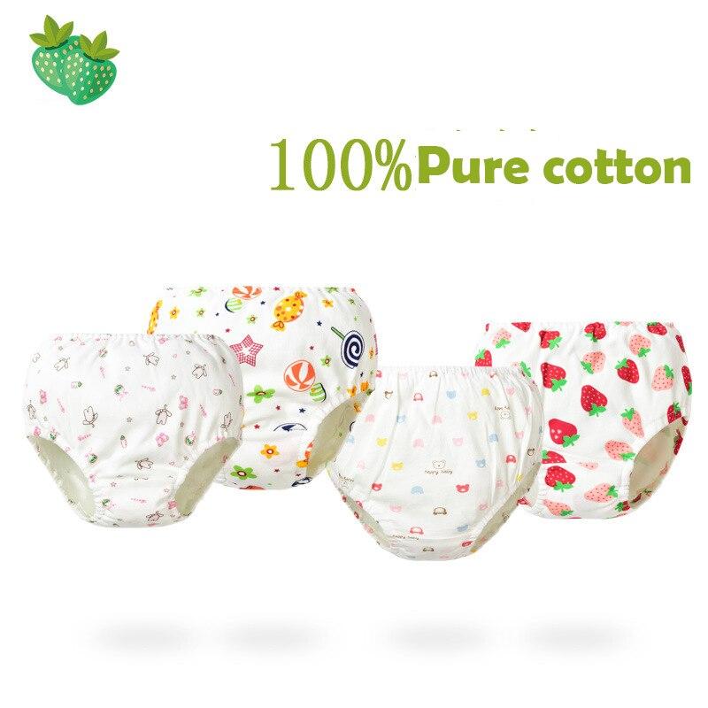 4 pairs/lot Girls Baby Disper Pants Cotton Children Panty baby girl panties Underpants Newborn For Boys toddler Male Underwear