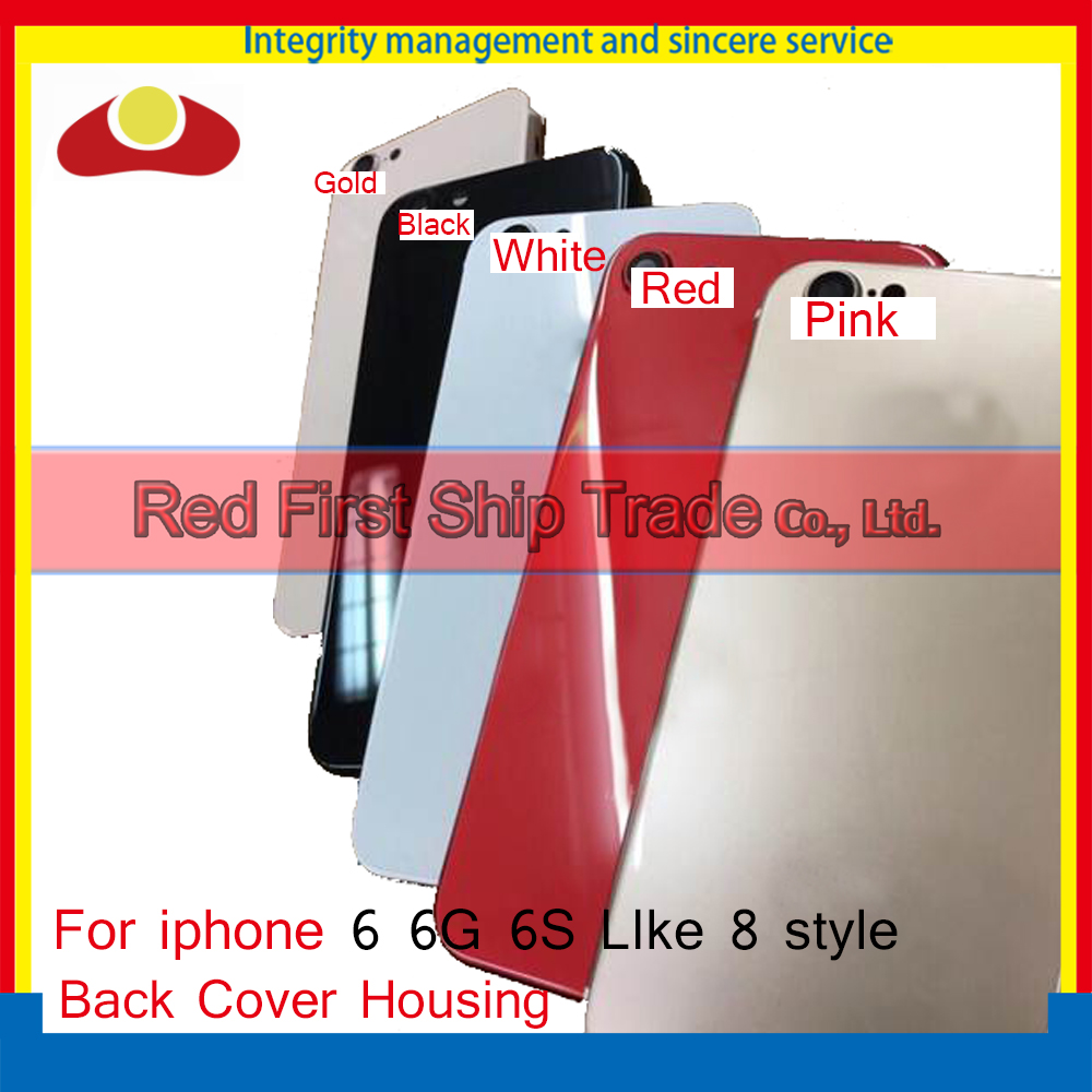 High Quality Back Cover For iphone 6 6G like 8 or 6S like 8 Housing Battery cover Rear Door Chassis Frame + Free Shipping
