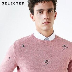 Image 5 - Select homme 100% coton broderie pull tricoté nouveau pull vêtements C
