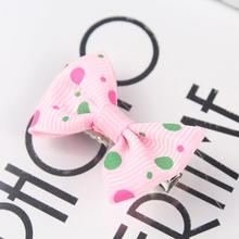 Stripe Colorful Bow Baby Hair Clips In Girls Accessories Solid Clip&Pins Pins For Dot Ribbon Infant Pin