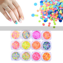 12 Box Nail Art Glitter Dust Sequins Pink Purple Mix Love Star Dot Decoration Nails Paillette Flakes Eyes Makeup Accessories
