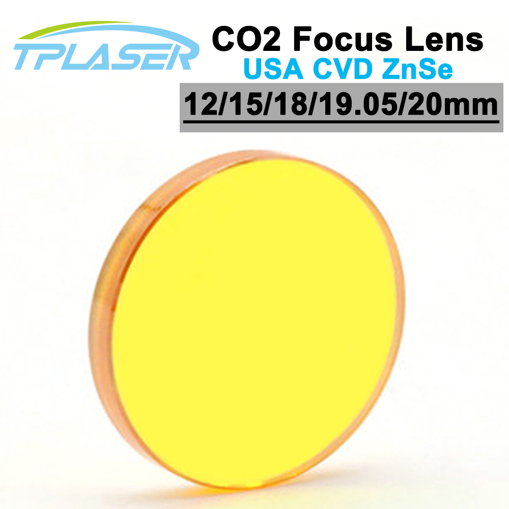 USA ZnSe Co2 Laser Focus Lens 12 15 18 19.05 20mm Dia. FL 50.8 63.5 101.6mm Focus Length For Laser Engraving Cutting Machine 28mm usa znse focus lens for co2 laser 127mm focal length co2 laser lens