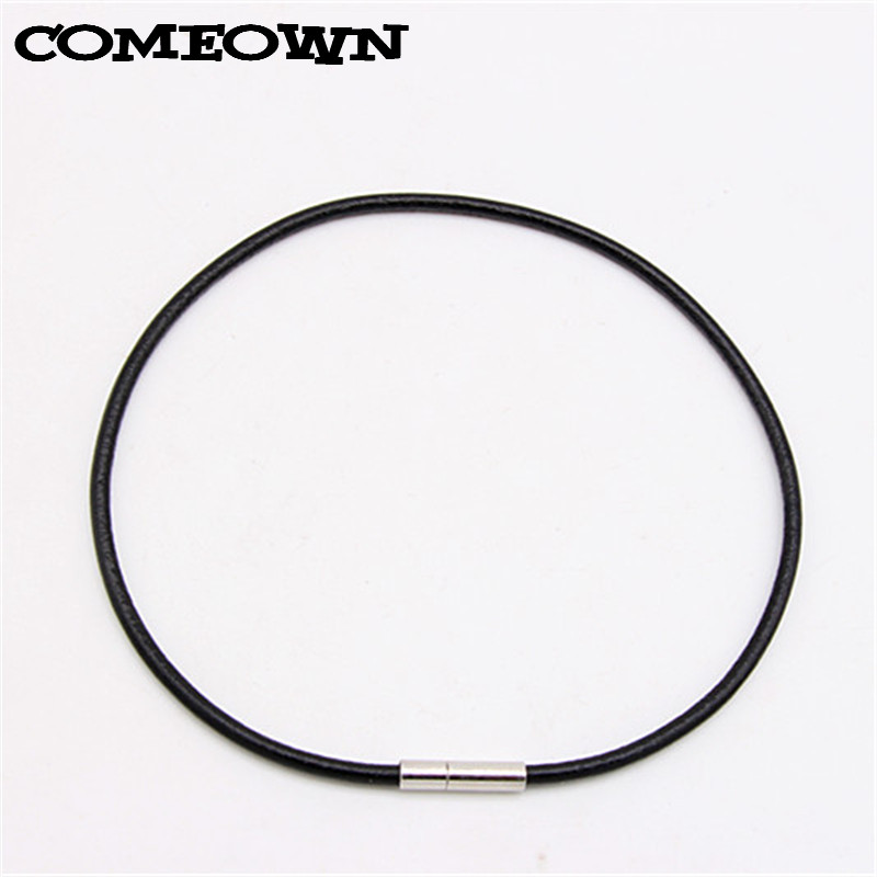 10Pcs Rubber Cord Jewelry Findings 3mm for Bracelet Necklace Making Black