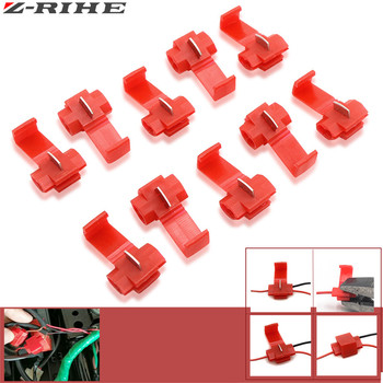 10/set Electric Wire Spade Terminal Quick Splice Crimp Terminal Wire Connect FOR Scotch Lock Quick Car Splice Terminal 22-18 AWG image