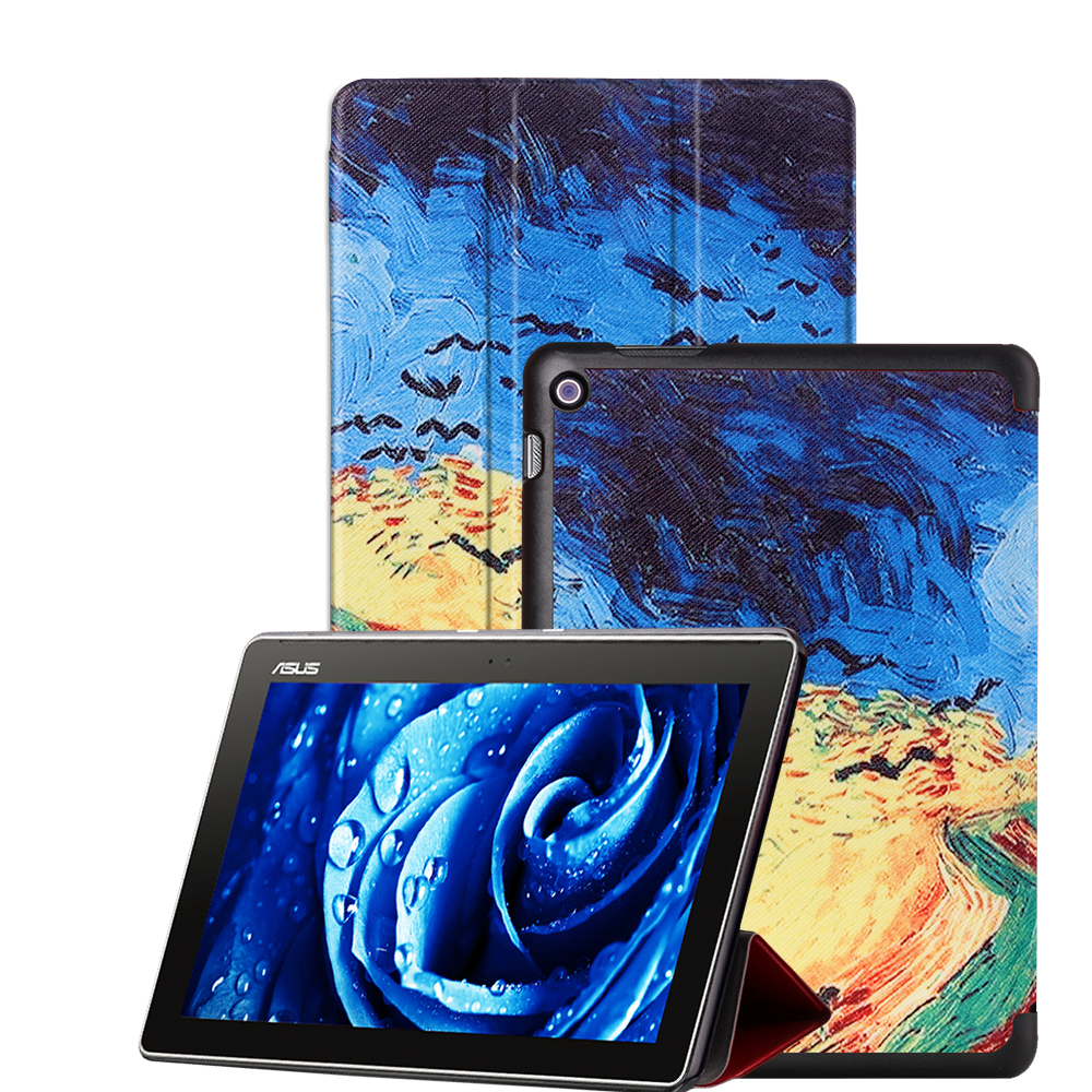 For ASUS Zenpad 10 Leather Smart Cover Case For ASUS Zenpad 10 Z300C Z300CL Z300CG 10.1