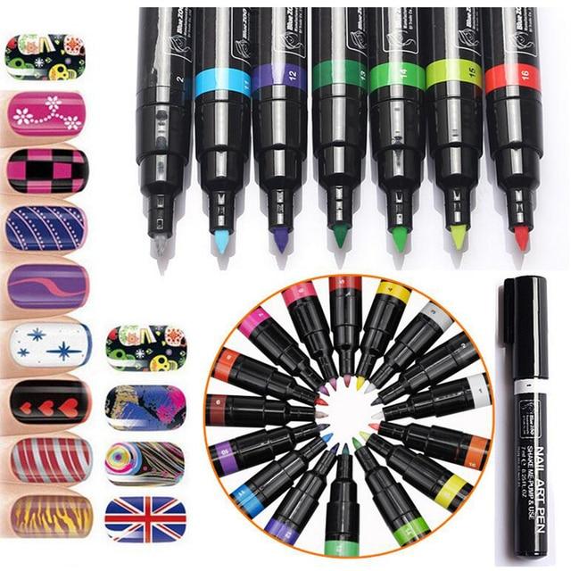 1 piezas 3D marcador pluma acuarela cepillo marcador pluma arte de uñas herramientas MarkerSketch dibujo de pintura de uñas belleza pluma arte suministros