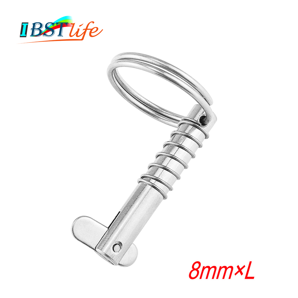 8mm BSET MATEL Marine Grade 316 Stainless Steel Quick Release Pin For Boat Bimini Top Deck Hinge Marine Hardware Boat
