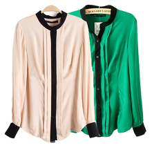 New Arrival Ladies informal Top Button Shirt ladies's style Chiffon Blouse Office OL Shirts ladies's Shirt