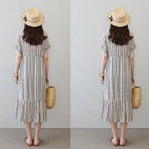 Image 4 - Vestidos de algodón para embarazo Vestidos impresos Vestidos de maternidad para mujeres embarazadas ropa de maternidad Vestidos de verano ropa